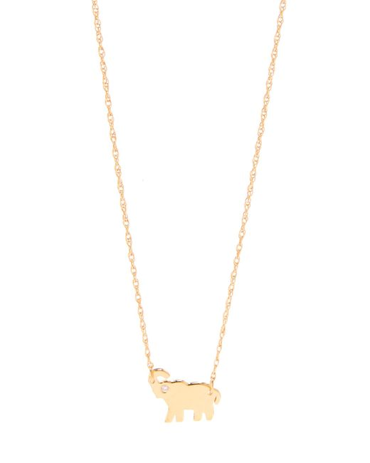 Jennifer Zeuner | Metallic Mini Elephant Necklace With Diamond | Lyst