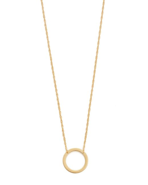 Jennifer Zeuner | Metallic Small Open Circle Necklace | Lyst