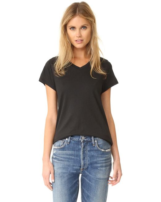 Zoe Karssen | Black Loose Fit V Neck Tee | Lyst