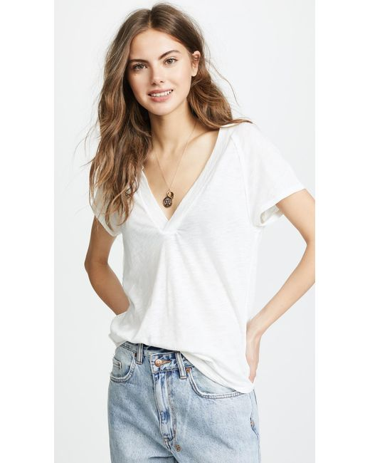 Free People - White Clementine Tee - Lyst