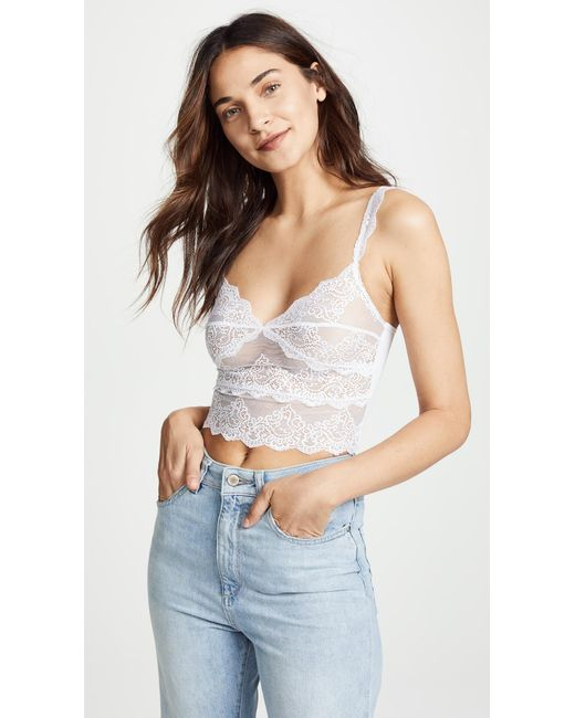 Only Hearts - White So Fine Lace Cropped Camisole - Lyst