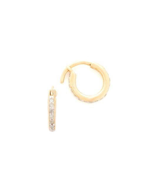 Adina Reyter | Metallic Pave Huggie Hoop Earrings | Lyst