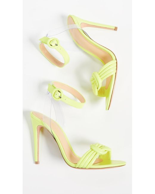 375425f52 ... Alexandre Birman - Yellow Vicky Vinyl 100mm Sandals - Lyst ...