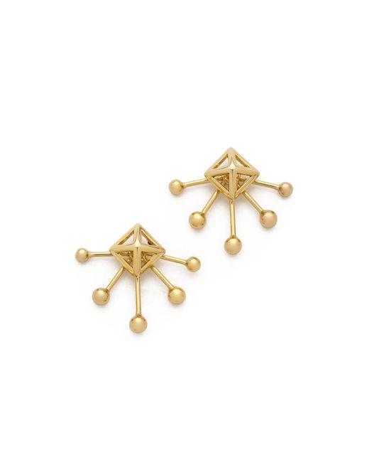 Rebecca Minkoff | Metallic Pyramid Fan Stud Earrings | Lyst