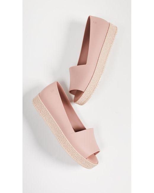 7e4d921725c ... Melissa - Pink Puzzle Ad Flats - Lyst ...