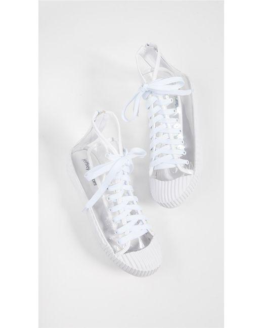 342c6406e4d ... Jeffrey Campbell - White Ganador Vinyl High Top Sneakers - Lyst ...
