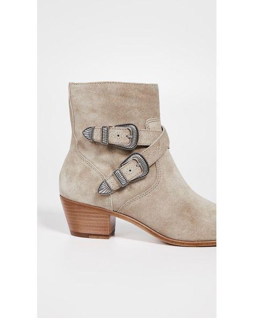 8821f5313f41 ... Frye - Multicolor Ellen Buckle Short Boots - Lyst ...