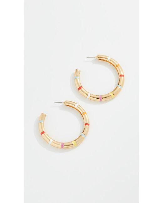 BaubleBar - Metallic Olisa Hoop Earrings - Lyst