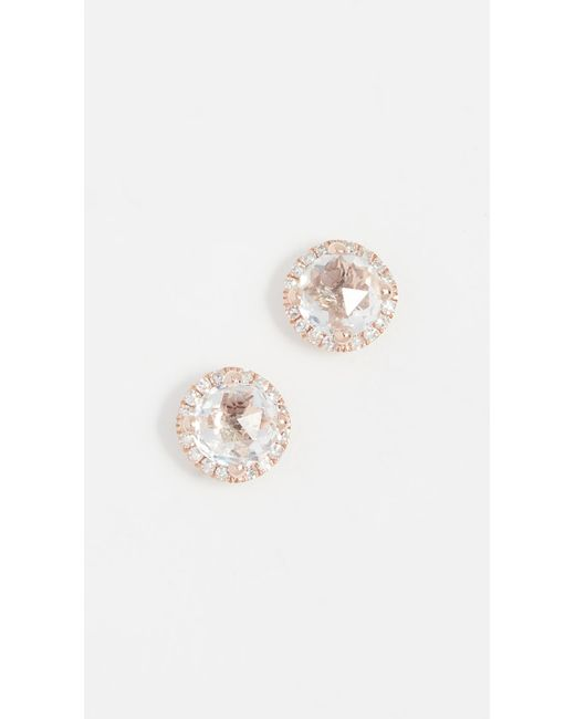EF Collection - Metallic Diamond White Topaz Stud Earrings - Lyst