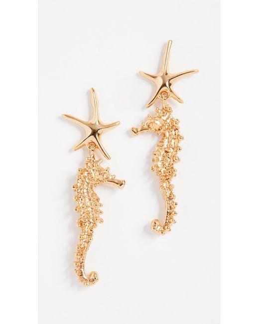 Oscar de la Renta - Metallic Starfish Earrings - Lyst