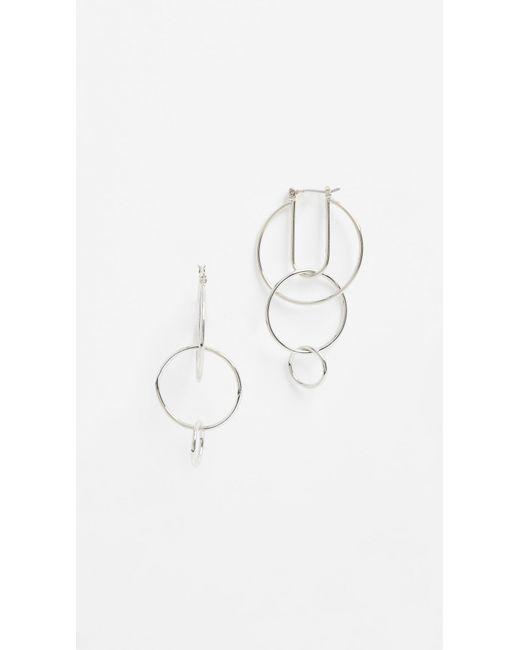 Rebecca Minkoff | Metallic Celestial Hoop Earrings | Lyst