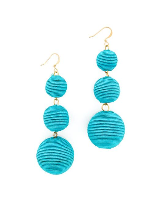 Kenneth Jay Lane | Blue Triple Tier Drop Earrings | Lyst