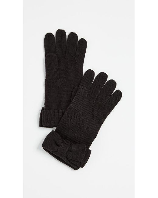 Kate Spade | Black Half Bow Gloves | Lyst