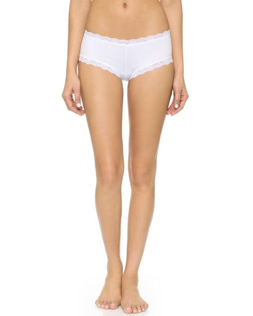 Hanky Panky - White Cotton With A Conscience Boy Shorts - Lyst