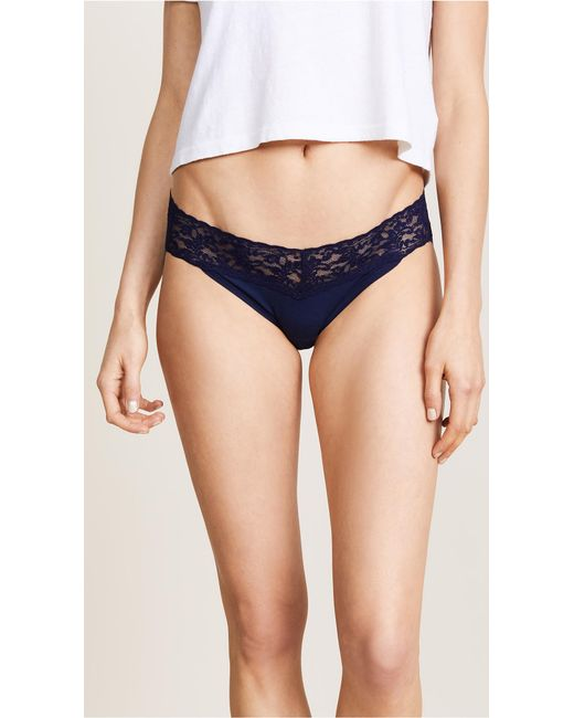 Hanky Panky - Blue Cotton With A Conscience V-kini Briefs - Lyst