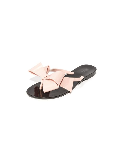 Melissa - Black Harmonic Bow Iii Thong Sandals - Lyst