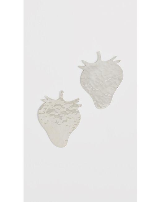 Anndra Neen - Metallic Strawberry Earrings - Lyst