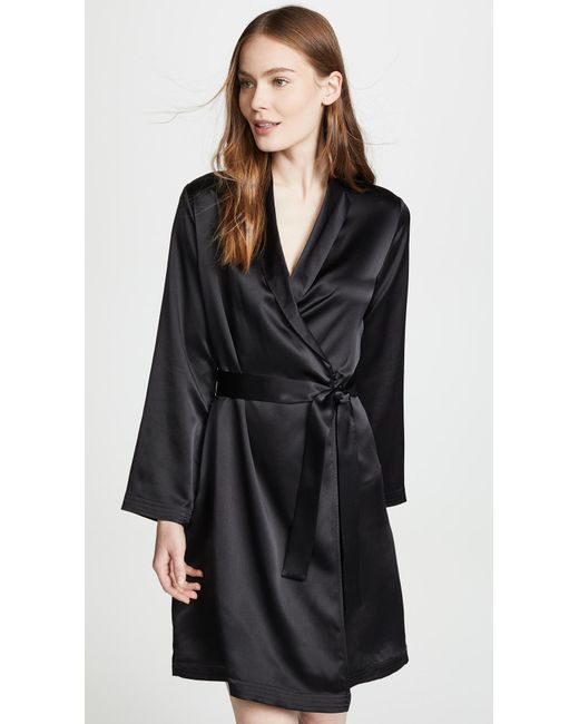 La Perla - Pink Silk Short Robe - Lyst