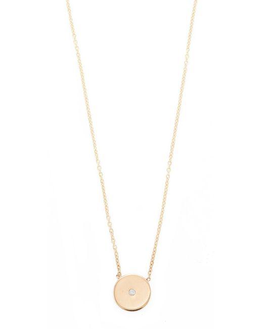 Zoe Chicco - Metallic 14k Gold Small Disc Diamond Necklace - Lyst
