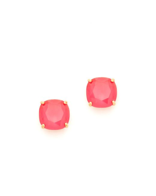 Kate Spade   Pink Small Square Stud Earrings   Lyst