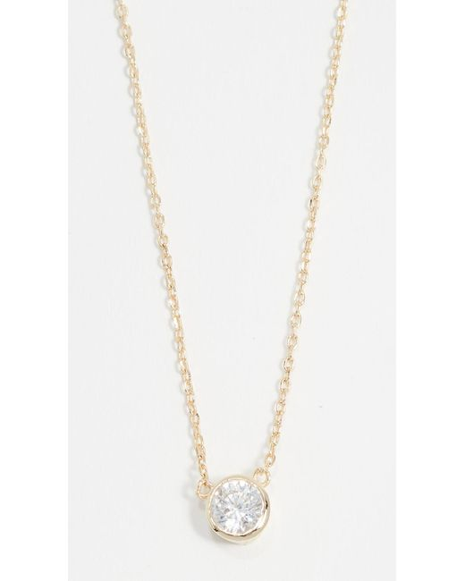 Shashi - Metallic Solitaire Necklace - Lyst