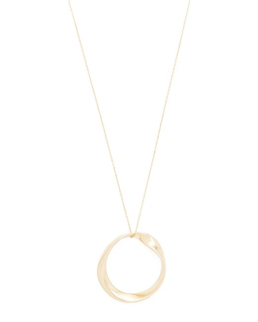 Adina Reyter | Metallic 14k Gold Large Twist Circle Necklace | Lyst
