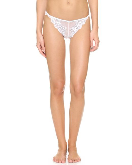 Only Hearts | White So Fine Lace Thong | Lyst