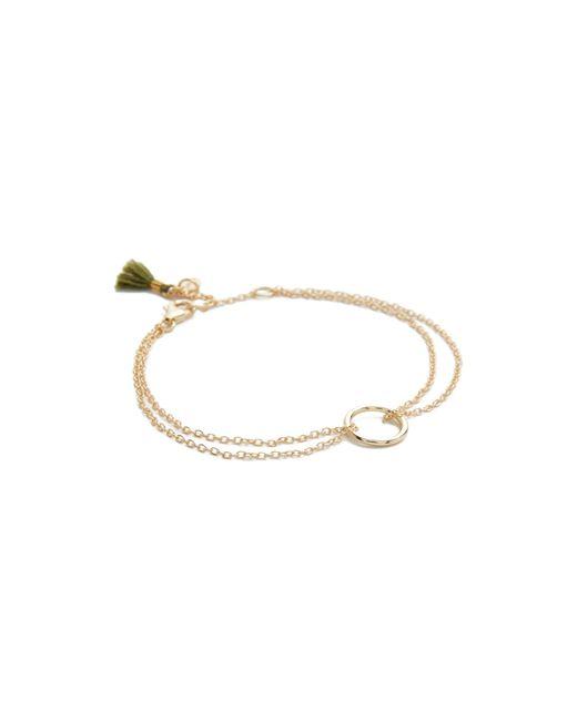 Shashi | Metallic Circle Bracelet | Lyst