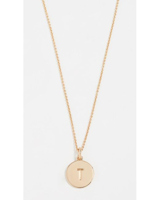 Kate Spade - Metallic Letter Pendant Necklace - Lyst