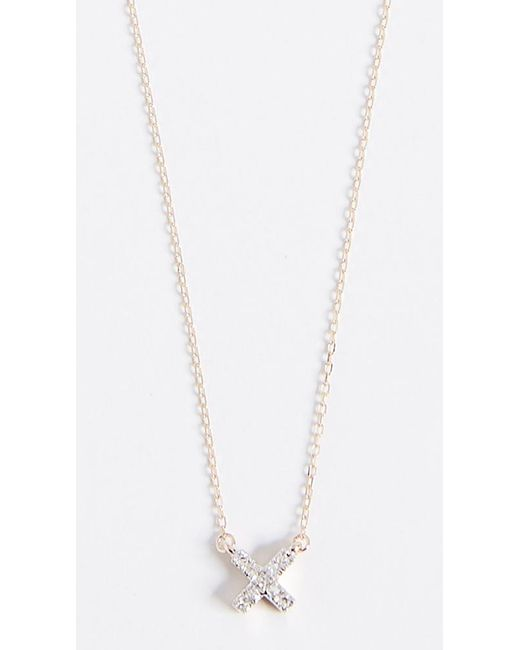 Adina Reyter - Metallic 14k Gold Super Tiny Solid Pave X Necklace - Lyst