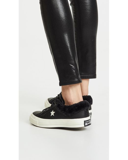 82d4b17c85f8 ... Converse - Black One Star Ox Sneakers - Lyst ...
