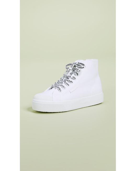 9e67569ba52c1e Lyst - Superga White Out Package High Top Sneakers in White