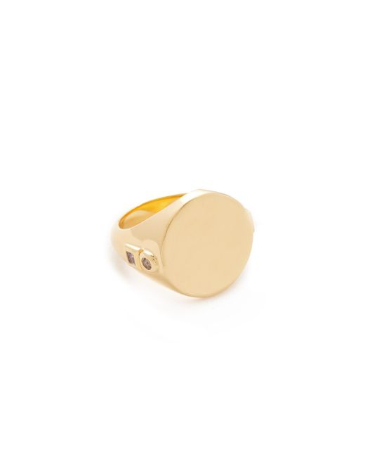Elizabeth and James | Metallic Serra Signet Ring | Lyst