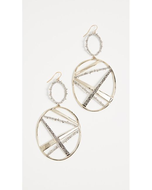 Alexis Bittar - Metallic Crystal Plaid Oversize Dangling Earrings - Lyst