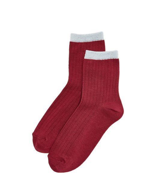Liana Clothing | Red Lurex Pipe Socks | Lyst