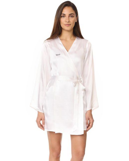 Morgan Lane - White Bride Robe - Lyst