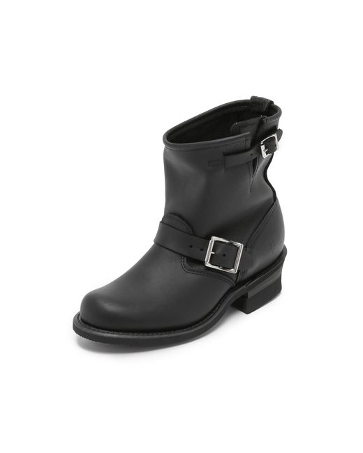 Frye | Black Engineer 8r Boots | Lyst
