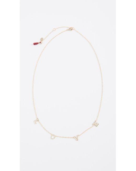 Shashi - Metallic Love Necklace - Lyst