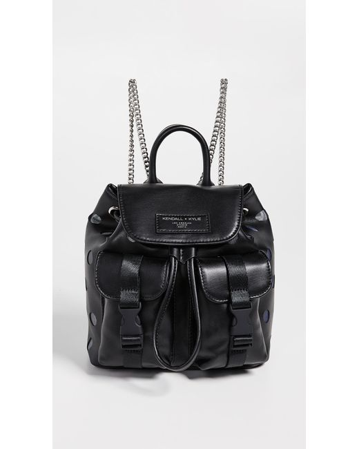Kendall + Kylie - Black Poppy Small Backpack - Lyst ... 6983ecf216