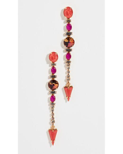 Elizabeth Cole - Multicolor Faren Earrings - Lyst