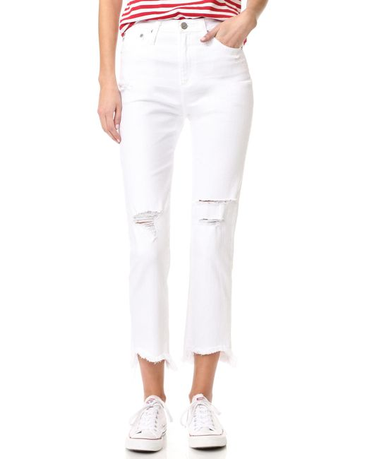 AG Jeans | White The Phoebe High Waisted Tapered Jeans | Lyst