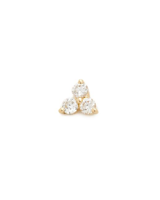 EF Collection - Metallic Diamond Trio Single Stud Earring - Lyst