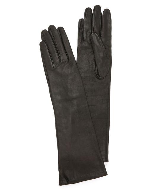 Carolina Amato | Black Long Leather Gloves | Lyst