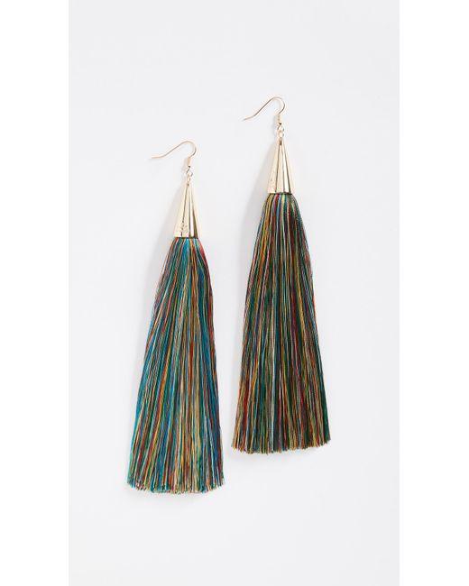 Eddie Borgo - Multicolor 15cm Silk Tassel Earrings - Lyst