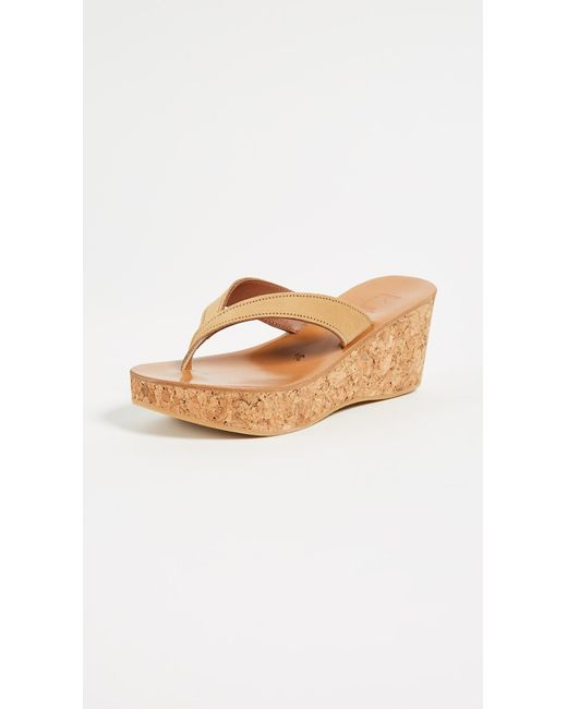 bbac04821cd8 K. Jacques - Multicolor Diorite Thong Wedges - Lyst ...