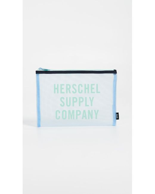 Herschel Supply Co. - Blue Network Mesh Large Pouch - Lyst