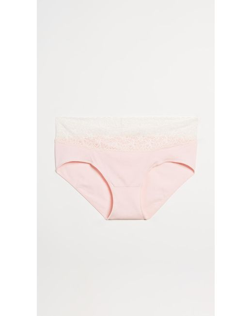 e3f01f6ee Rosie Pope Seamless Maternity Panties With Lace in Pink - Save 11 ...