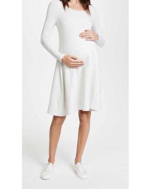Ingrid & Isabel - White Trapeze Sweatshirt Dress - Lyst