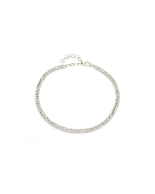 SHAY - White Mini Pave Link Choker Necklace - Lyst