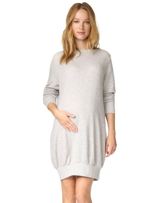 HATCH   Gray The Sweatshirt Dress - Charcoal Heather   Lyst